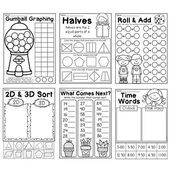 Free First Grade Math Worksheets By My Teaching Pal Teachers Pay Teachers First Grade Math Worksheets Free Math Worksheets Math Worksheets