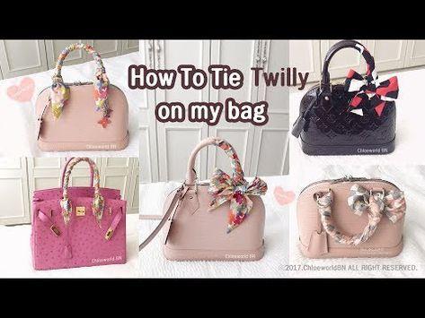 Hair Bow Ribbon Scarf Elegant Twilly Scarf Handbag Handle Wraps