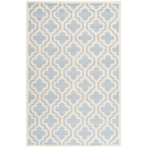Safavieh Cambridge Light Blue Ivory 5 Ft X 7 Ft Area Rug Wool