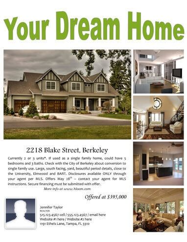 Your Dream Home Real Estate Flyer House Sale Flyer Selling Real Estate Real Estate Flyers