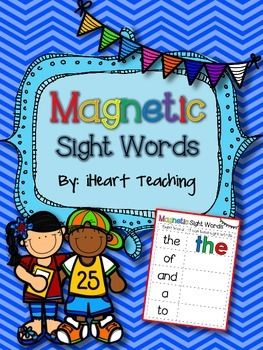 Magnetic Sight Words: Have your students build their sight words with magnets. Includes Fry's List 1 -100.