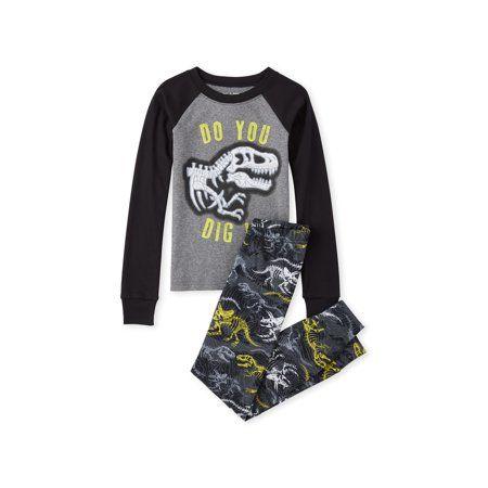 The Childrens Place Baby Boys Dinosaur Pajama Set