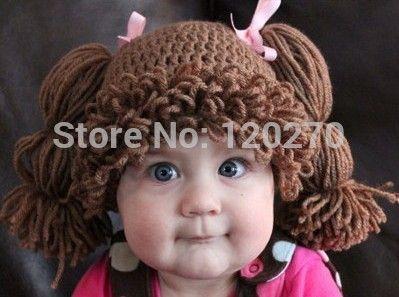 Livraison Gratuite 100% Fait Main Crochet Bébé Filles Perruques Cabbage Patch…
