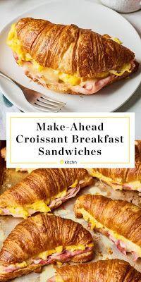 Croissant Breakfast Sandwich - CookToria #breakfast #sandwiches #croissant #dinnerrecipes #thanksgiving #recipes