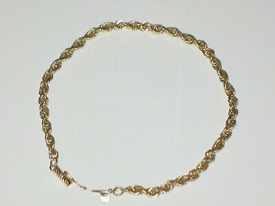 Ebay Advertisement 7 1 Gram Ma Brand 8 3 8 Yellow Gold 10k Rope Chain Bracelet Bangle Beautiful In 2020 Bangle Bracelets Chain Bracelet Unique Bracelets