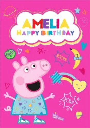 Peppa Pig Birthday Card Fresh Peppa Pig Birthday Card Pig Birthday Peppa Pig Birthday Minion Birthday Invitations