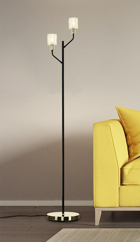 Chicane 153cm Floor Lamp Floor Lamp Lamp Brass Lamp