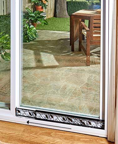 Adjustable Sliding Door Lock Bar Sliding Doors Decorative Leaves Door Locks