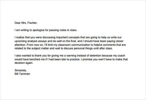Apology Letter To School Teacher Pdf Letter To Teacher Words Lettering