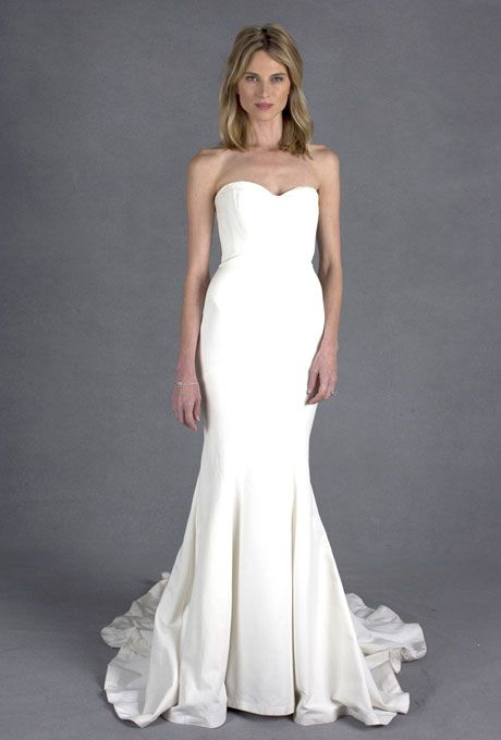 Nicole Miller Dakota Silk Faille Strapless Gown. The day of your ...