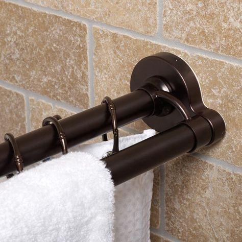 Oil Rubbed Bronze Twisttight Premium 44 72 Double Rod Bed