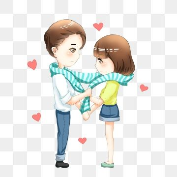 Lovers Get Married Marriage Love Fate Cartoon Couple Characters Illustration Tanabata Valentines Day Couple Love Clipart V Love Png Couple Cartoon Cartoons Png