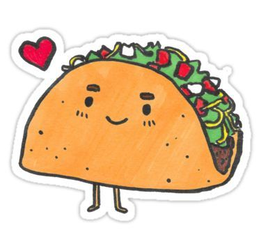Taco Sticker By Neoma Food Stickers Taco Drawing Tumblr Stickers