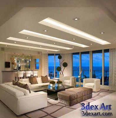 Modern False Ceiling Designs For Living Room 2019 With Lighting