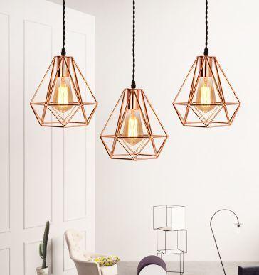 Leika Geometric Pendant Lamp In Rose Gold Pre Order Lights Co