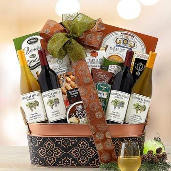 Executive Basket Wine Gift Baskets Corporate Holiday Gifts Basket