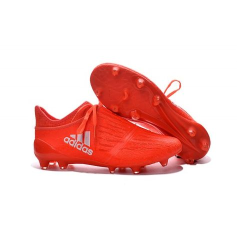 new concept 99d78 04fff 2017 Adidas Calcio 2017 X 16 PureChaos FG AG Rosse Argento.
