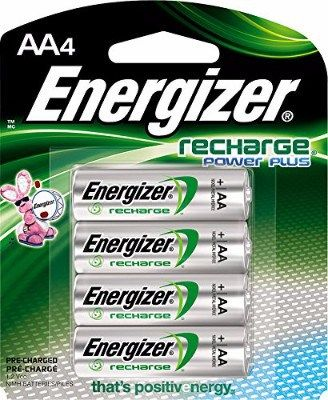 Energizer Recharge Power Plus 2300 Mah Aa Rechargeable Batteries 4 Count Rechargeable Batteries Energizer Recharge