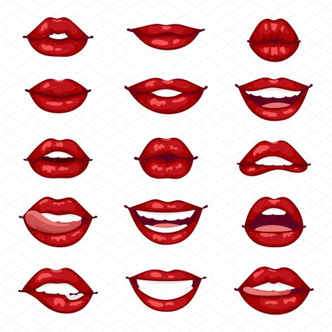 Female lips isolated vector #lust#passion#mouth#makeup