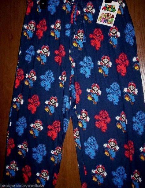 Super Mario Hombres Pantalones Cortos Pijama Apenada Sal/ón Conjunto