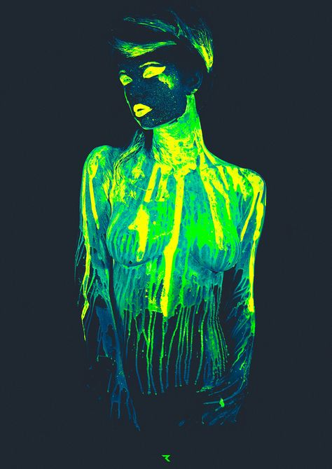sensual neon painting session turns hot