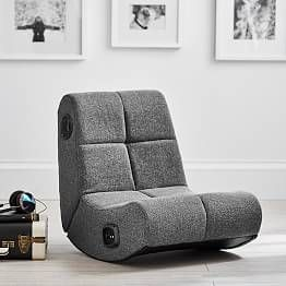Suede Mini Rocker Speaker Chair Leather Chair Makeover Leather
