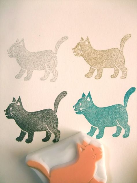 Rubber stamp, cat