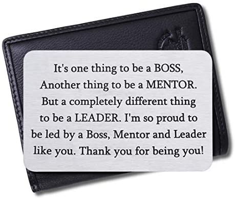 Christmas Gifts 2020 For Mentor Amazon.com: Boss Christmas Appreciation Gifts Wallet Card for