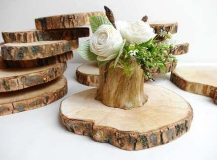 19+ Fake wood slices for centerpieces ideas