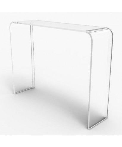 At Arredi Trasparenti.Consolle 60x20h90 Scrivania In Plexiglass Trasparente