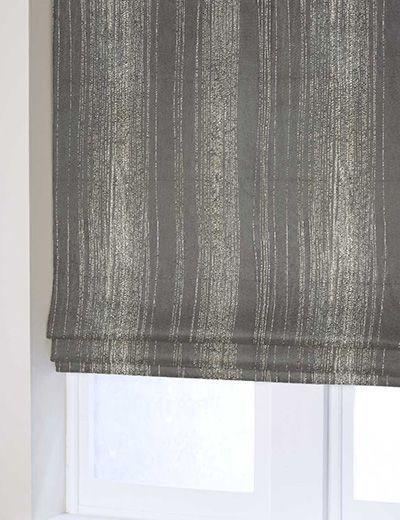 Curtain Metallic Velvet Stripe Silver