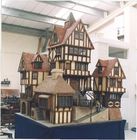 one of the most fantabulous collections of dolls houses,a village,   hogwarth...lots more
