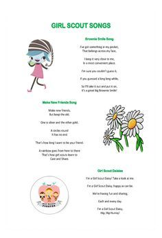 girl scout daisy song printable - Google Search