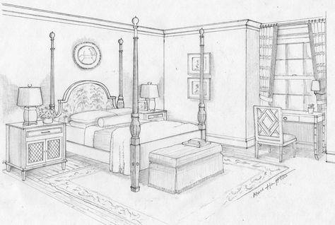 Dream Bedroom Sketch Bedroom Ideas Pictures Art Pinterest