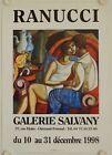 Affiche RANUCCI 1998 Exposition Galerie Salvany - Clermont Ferrand #Antiquités