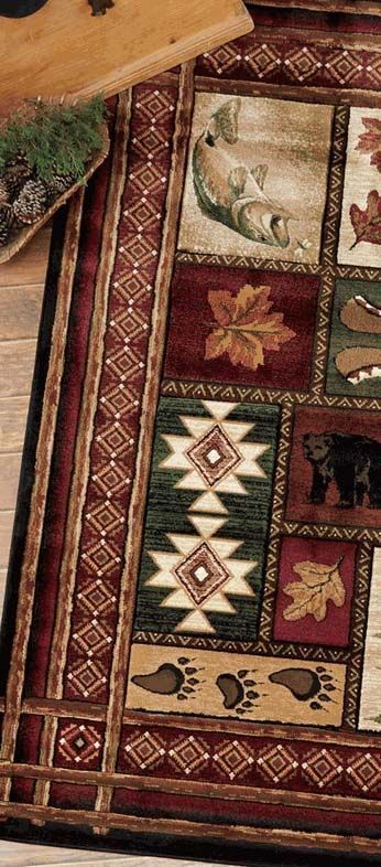 Rustic Log Cabin Rug See Website For More Cabin Accessories And