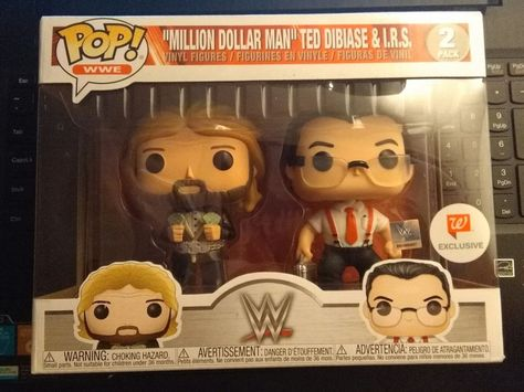 WWE Pop Million Dollar Man Ted DiBiase /& IRS *BRAND NEW* Vinyl Figures 2-Pack