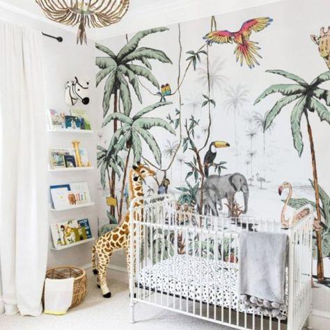 Papier Peint Chambre Enfant Jungle Decoration Jessica Venancio