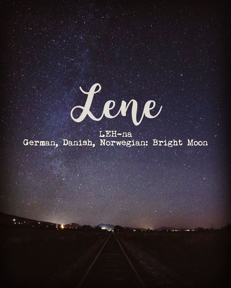 pronounced LEH-na is a and name meaning bright moon. It is uber cute and derives from name Baby Girl Names Unique, Cute Baby Names, Pretty Names, Unique Names, Names That Mean Moon, Moon Names, Moon Related Names, Baby Names And Meanings, Names With Meaning