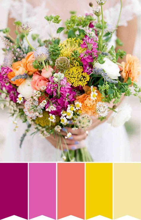 Bouquet Colorati Sposa.5 Bouquet Da Sposa Colorati Fiori Per Matrimoni Mazzi Di Fiori