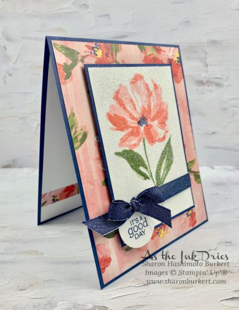 Stamping Up Cards, Pop Up Cards, Card Tutorials, Card Sketches, Art Floral, Cute Crafts, Paper Cards, Flower Cards, Greeting Cards Handmade
