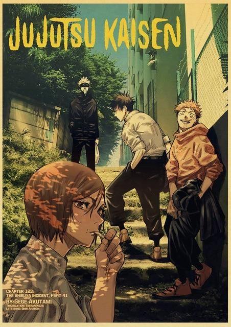 Jujutsu Kaisen Retro style poster - 42x30 cm / Q036 20