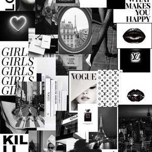 Dark Blue Grunge Vsco Digital Wall Collage 55 Pcs In 2021 Wall Collage Black Aesthetic Wallpaper Photo Wall Collage