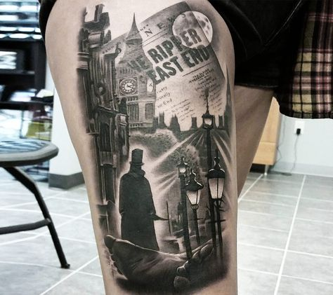 jack the ripper tattoo by jacob sheffield