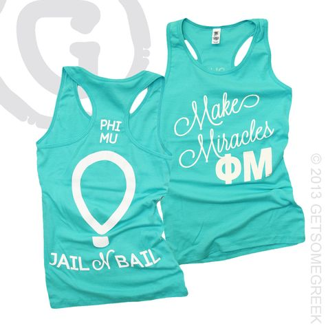 PHI MU CUSTOM GROUP ORDER!! PRETTY COLORED TANKS!!