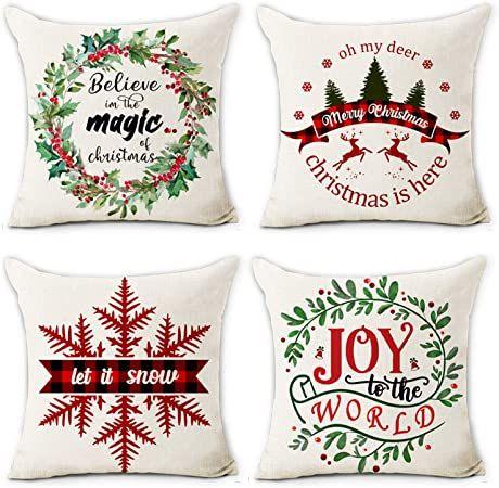 3 Holiday Pillow Set