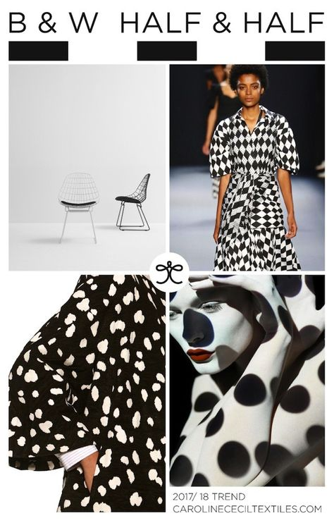 View top four print themes for the Spring / Summer 2018 time frame as identified by Caroline Cecil Textiles on WeConnectFashion.