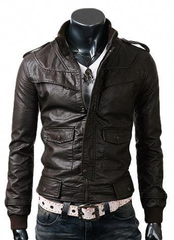 Black Slim Fit Leather Jacket #Fanjackets in 2020 | Leather