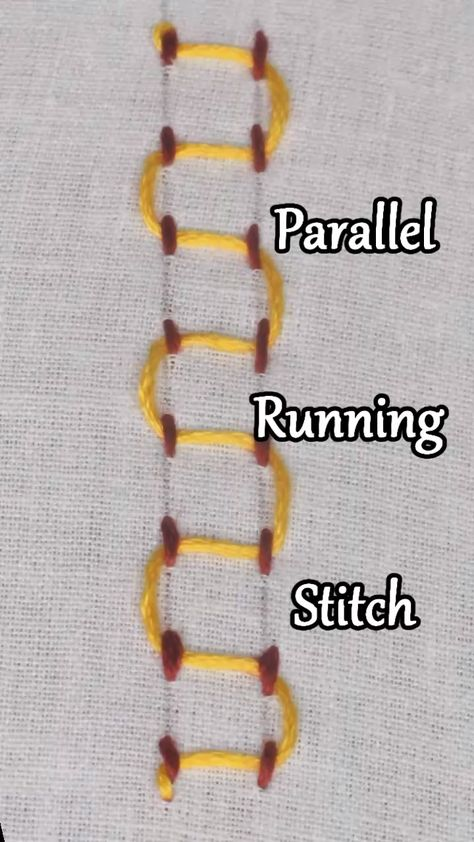 Learn how to work a Parallel Running Stitch #handembroidery #embroidery #embroiderystitches #video