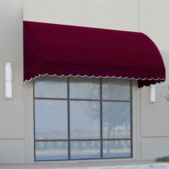 New Yorker Woven Acrylic Standard Window Awning In 2020 Window Awnings Custom Awnings Polycarbonate Roof Panels
